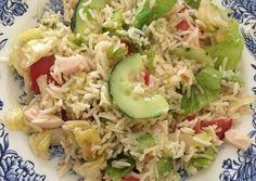 Ensalada de arroz fresquita Receta de Andrea Tarazona  - Cookpad