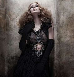 n the Mon Nox photo shoot, photographed by Sylwia Makris, designer and stylist Pericles Kondylatos displays his eccentrically eerie Gothic jewelry design collection