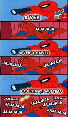 Read apoko no raza :v from the story ℱᥲιrყ Momos. Black Spiderman, Amazing Spiderman, Que Meme, Reaction Pictures, Funny Pictures, Memes Lindos, Anime Crafts, Spanish Memes, Marvel Memes