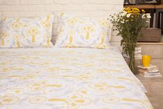 Printed Bed Sheets - Quality Sheets - Designer Sheets - Cotton Bedspreads - Hand Block Printed from Attiser King Size Bed Sheets, Queen Sheets, Luxury Bedspreads, Indian Bedding, Pottery Barn Teen Bedding, Indian Block Print, Yellow Bedding, Luxury Bedding Collections, Cotton Sheet Sets