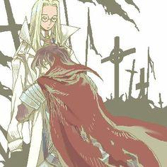 Alucard-Vlad & Integra, Hellsing, love