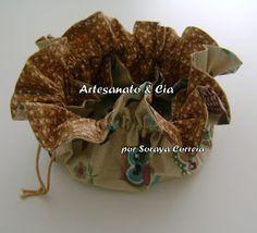Artesanato e Cia : Porta-jóias em tecido - meu PAP
