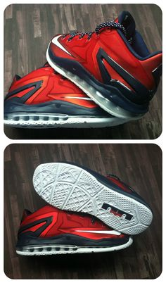 #ReleaseReport: The Nike Air Max LeBron XI Low drops tomorrow in this red, white, and blue colorway. #Basketball #Shoes