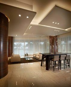 Потолок из гипсокартона в зале: 45+ вдохновляющих фото для преображения гостиной http://happymodern.ru/potolok-iz-gipsokartona-v-zale-35-foto-preobrazhaem-komnatu/ Потолок из гипсокартона в зале. Для помещений с высокими потолками гипсокартон решает практически любую задачу из эстетических и практических