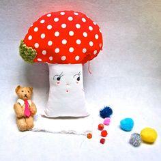 Cloth mushroom toadstool plush softie art by JessQuinnSmallArt, £39.00