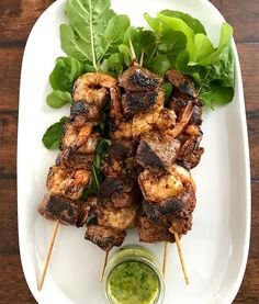 Friday night surf and turf with parsley garlic butter I found this recipe long ago and soon you will be able to access too woohoo! Surf And Turf, Garlic Butter, Parsley, Chicken Wings, Great Recipes, Friday, Meat, Night, Cooking