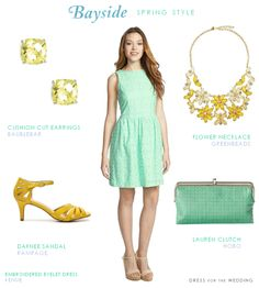 Bayside Spring Looks #Mint #Bridesmaid via @Dress for the Wedding
