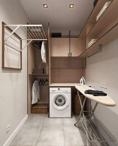classic practical home textiles laundry room storage design ideas 20 ~ . classic practical home textiles laundry room storage design ideas 20 ~ … Modern Laundry Rooms, Laundry Room Layouts, Farmhouse Laundry Room, Bathroom Modern, Modern Room, Küchen Design, Design Case, House Design, Design Ideas