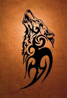 Tribal Loup Black Tattoo Design 2017