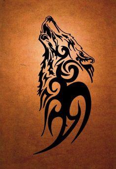Tribal Loup Black Tattoo Design 2017