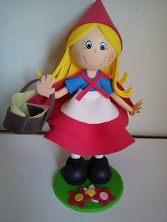bonecas em eva 3d chapeuzinho vermelho