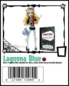 Wave 1 Lagoona Blue includes stand, brush, diary and pet Neptuna