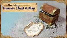 Miniature Treasure Chest & Treasure Map - Tutorial - Published on May 26, 2016 Hi guys! Today we're making this cute miniature treasure chest and treasure map :D You can fill it with whatever treasure you want; I just used nail art glitter and rhinestones ;) The chest is made from popsicle sticks which are easy to work with and put together with glue. I made this in 1:12 scale, but you can make it bigger to fit a Barbie or other doll.
