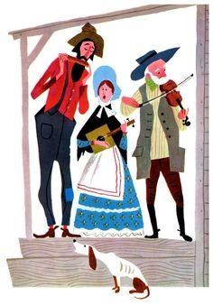 Aurelius Battaglia (1910 – 1984) was an American illustrator, muralist, writer, and director. illustration, drawing, art, design, modern, mid-century, retro, vintage, children, picture, book