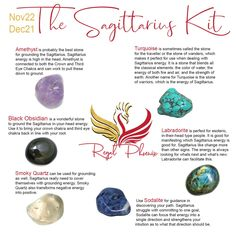 The Sagittarius Kit, handpicked by The Regal Phoenix is made up of several uniquely paired stones that resonate strongly with the Sagittarius ♐️ sign (Nov 22 - Dec 21).