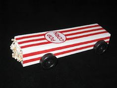 Pinewood derby car - box of popcorn