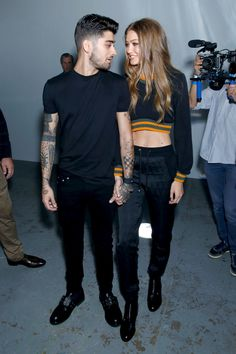 Gigi Hadid, Zayn Malik and Bella Hadid Attend the Versus Versace LFW Show | Teen Vogue