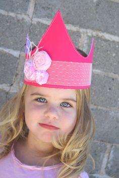 hot pink princess crown