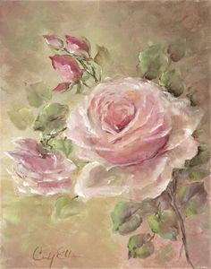 Cindy Ellis specialises in painting roses and has many wonderful works at her website.