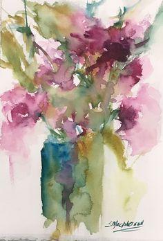 "7.5"" x 11.25""Original Watercolor PaintingMedium: Watercolor on 140 lb Moulin du Roy ... #watercolorarts"