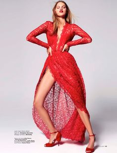 a87b2abf4c Kim Riekenberg Models Red-Hot Fashions in Marie Claire Indonesia