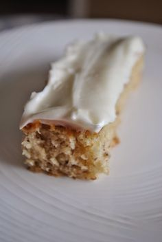 Banana Bar Snack Cake