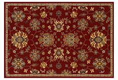 Pottery Barn 8x10 Brandon Floral Persian Wool Area Rug