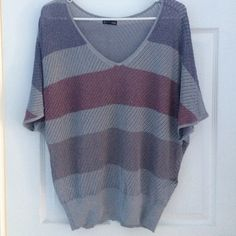 EXPRESS top * Express top * Sweater-like * Fades dark purple/Dark red and sparkles * Fitted waist! Express Tops