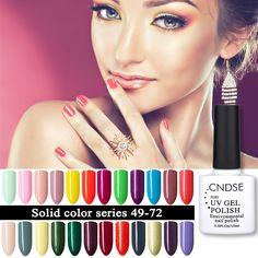 CNDSE 96 Solid Color Gel Nail Polish LED UV Gel Long-lasting Soak-off UV Fingernail Gel Nail Varnish 10ML Gelpolish