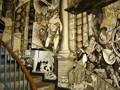 The mural at Coates Library at Trinity...one of my favorite places on campus.