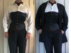 """""""The Beast"""" Gentleman's long-torso corset by Orchid Corsetry, modelled by Tarquin 