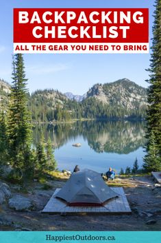 This complete backpacking checklist has all the gear you need to bring for your next overnight or multi-day hike. Use this backpacking gear checklist to make sure you have everything you need when you go backpacking. Wilderness camping gear checklist. Backpacking packing list. Gear to bring backpacking. What to pack for backpacking. Hiking Tips, Camping And Hiking, Hiking Gear, Camping 101, Kayak Camping, Winter Camping, Camping Ideas, Backpacking Checklist, Backpacking Training