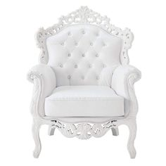 total white armchair - this would get way too dirty in my house but it is amazing!
