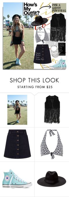 """""""How to Dress for a Music Festival...."""" by hamaly ❤ liked on Polyvore featuring Moontide, Converse, Express, StreetStyle, BloggerStyle, coachella, waystowear, Lollapalooza, bonnaroo and Pitchfork"""