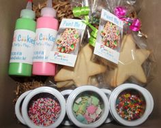 Cupcake and cookie decorating supplies - maybe even mini muffin tin, frosting, cake mix, lots of fun sprinkles, muffin liners, etc.