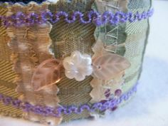 Slap Cuff bracelet stripes plaids and florals in by SoftJewelry, $22.00