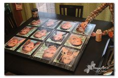 Tutorial on how to make a photo board on a piece of plywood with several 8x10s, then seal with Mod Podge