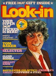 Relive your childhood and take a browse through some pages of Look-in with comic strips like please sir , on the buses, the six million dollar man, timeslip, doctor on the go and worzel gummidge Dr Who Series, Colin Baker, Jon Pertwee, Classic Doctor Who, Newspaper Cover, Old Comics, Kids Tv, My Childhood Memories, Time Lords