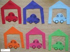 Car Preschool Lesson Plan - perfect and easy color match felt!