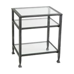 Southern Enterprises Distressed Metal End Table - Black