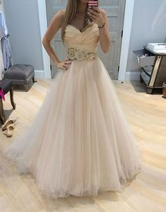 Charming Tulle Prom Dress, A Line Prom Dresses,