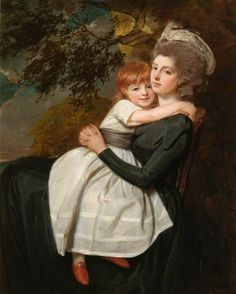 George Romney - Mrs Stratford Canning, née Mehetebel Patrick (1777–1831), with Her Daughter Elizabeth