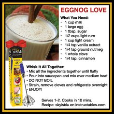 Homemade Eggnog Recipe Holiday #Contest: Share your recipes to our Facebook Page and enter to win The Pogo Whisk, The Ove Glove, and Chia Seeds: https://www.facebook.com/JosephEnterprisesInc
