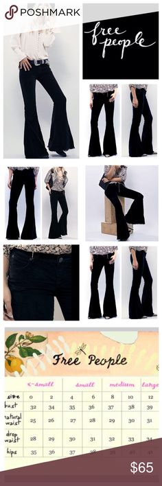 Free People Soft Corduroy Flare Jeans. NWOT. Free People Black Corduroy  Super Flared Jeans bb5452c4c78d8