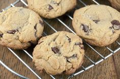Bakery Style Chocolate Chip Cookies // Get fresh bakery style chocolate chip cookies right at home with this quick and easy recipe.  This is the best ever thick chocolate chip cookie recipe and will become your favorite!