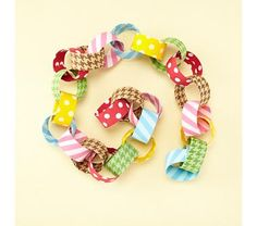 chain from leftover fabric scraps