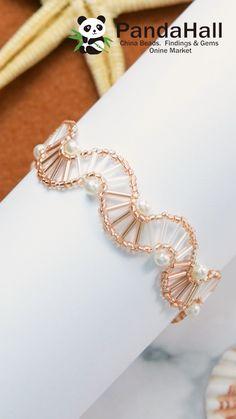 Ear Jewelry, Bead Jewellery, Resin Jewelry, Wire Wrapped Jewelry, Jewelry Art, Beaded Jewelry, Jewelry Making, Diy Bracelets Video, Beaded Bracelets Tutorial