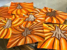 Candy corn, black cats, and pumpkins oh my! Art Halloween, Halloween Art Projects, Fall Art Projects, School Art Projects, Clay Projects, Halloween Pumpkins, Candy Corn, Thanksgiving Art Projects, Arte Elemental
