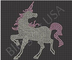 Unicorn Rhinestone Design Pattern File Download Stencil Template SVG EPS PLT