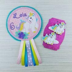 Unicorn Badge - Unicorn Birthday Badge - Rainbow Badge - Girls Birthday Badge - Party Favor - Birthday Gift - Celebration Gift Personalized by AHeartlyCraft on Etsy https://www.etsy.com/uk/listing/546924683/unicorn-badge-unicorn-birthday-badge